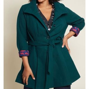 Modcloth 'Weekday Wish Coat in Teal'